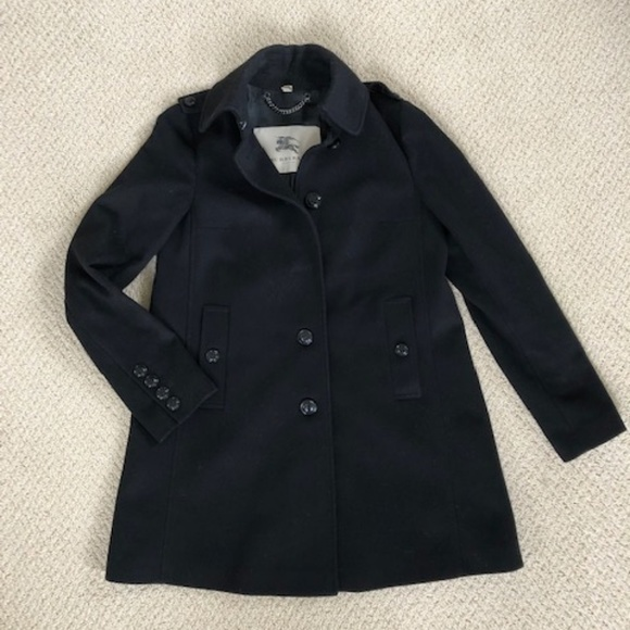 Burberry of London Wool/Cashmere Pea Coat
